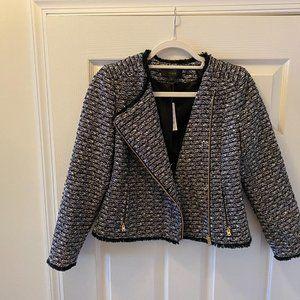 JCrew Zip Jacket in Fringy Tweed